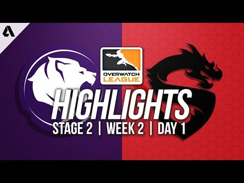 Los Angeles Gladiators vs Shanghai Dragons | Overwatch League Highlights OWL Stage 2 Week 2 Day 1 thumbnail