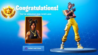 The New GOLD LUXE SKIN and BACKBLING in Fortnite Battle Royale (Max Tier 100 Skin)