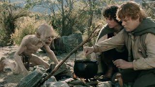 ✄ Властелин колец: Две крепости 2002 (Голлум и Сэм спорят какая еда вкуснее)