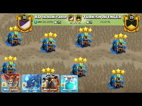 Best Trending Air TH12 War 3Star Attack Strategy 2019! Ghost Electro With 2 Lava 44 Balloon Attack