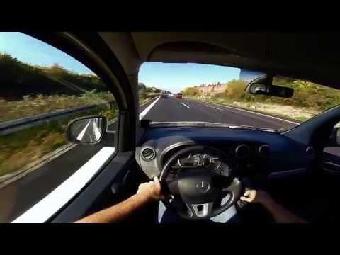 Mercedes-Benz Citan 111 CDI very fast drive Autobahn / full speed / sehr schnelle Fahrt