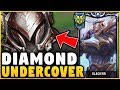 PRETENDING TO BE AN IRON 4 GAREN MAIN WHILE BEING COACHED! (DIAMOND IN DISGUISE) - League of Legends
