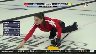 Olympic Curling Trials | Team Sinclair Earns A Win Against Team Roth