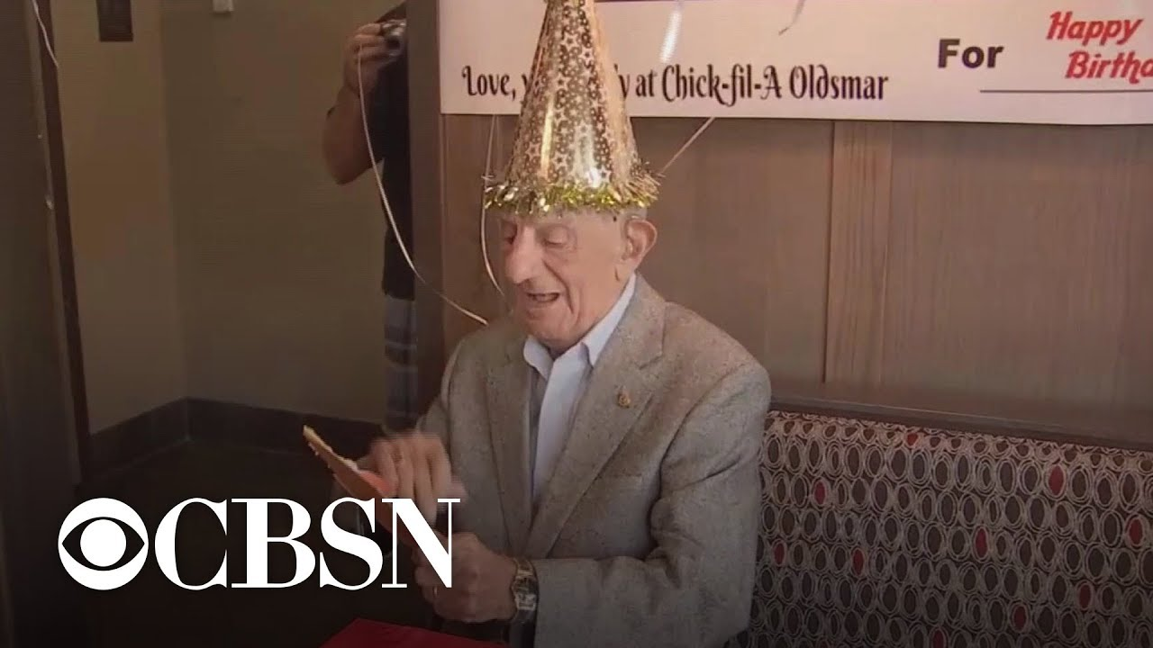 Man Who Loves Chick Fil A Gets Surprise 100th Birthday Party From Staff