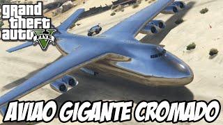 GTA V Nova Geração - Avião GIGANTE CROMADO INCRÍVEL
