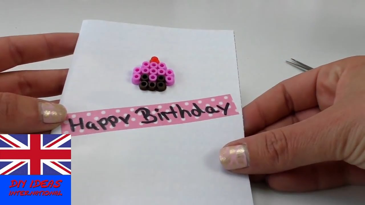 birthday cards handmade Happy birthday card tutorial DIY – Handmade Happy Birthday Cards
