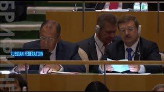 Барак Обама и Владимир Путин выступили на Генассамблее ООН