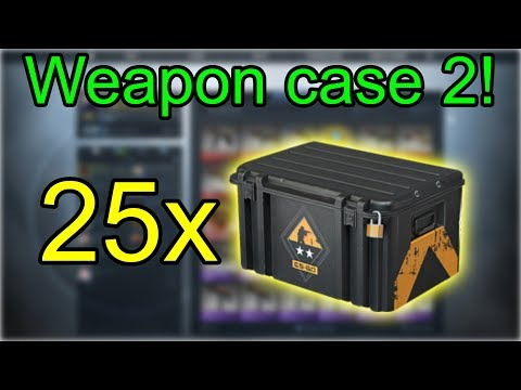 CS:GO Case Opening! 25x Weapon Case 2! Ez Money Or Rip?
