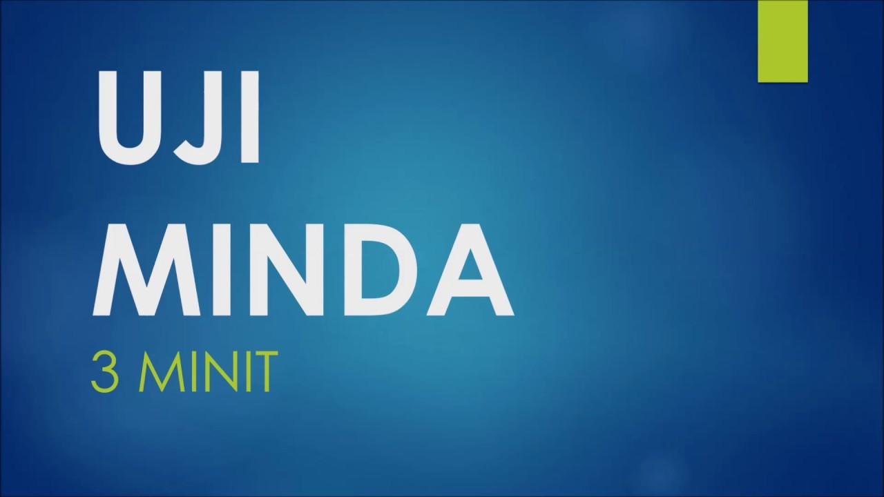 Uji Minda 3 Minit Youtube