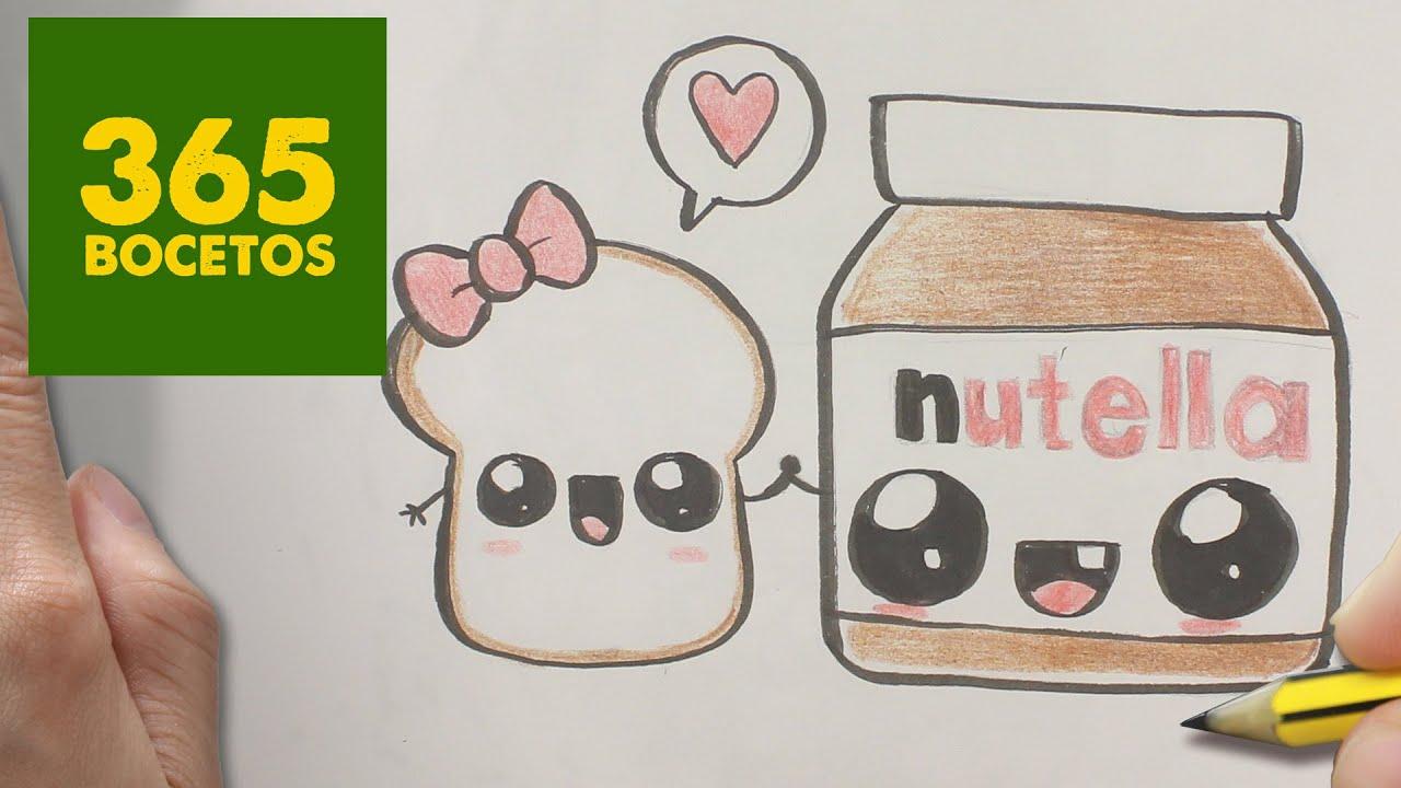 Como Dibujar Nutella Y Pan Kawaii Paso A Paso Dibujos Kawaii
