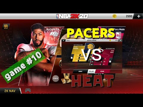 Miami Heat Vs Indiana Pacers Game #10, Nba 2k20 Android Mobile