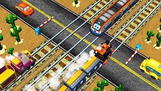 МУЛЬТИКИ ПРО МАШИНКИ И ПАРОВОЗИКИ Развивающие мультики про железную дорогу и поезда