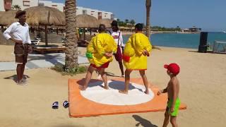Кафе на пляже анимация в отеле SUNRISE CRYSTAL BAY RESORT 5 Египет Хургада