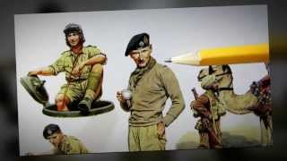 Building Master Box Models Commonwealth AFV Crew In 1/35 Scale. In HD
