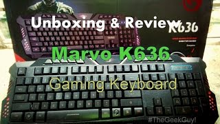 [Unboxing & Review] Marvo K636 Scorpion Dark Night Wired USB Gaming Keyboard!