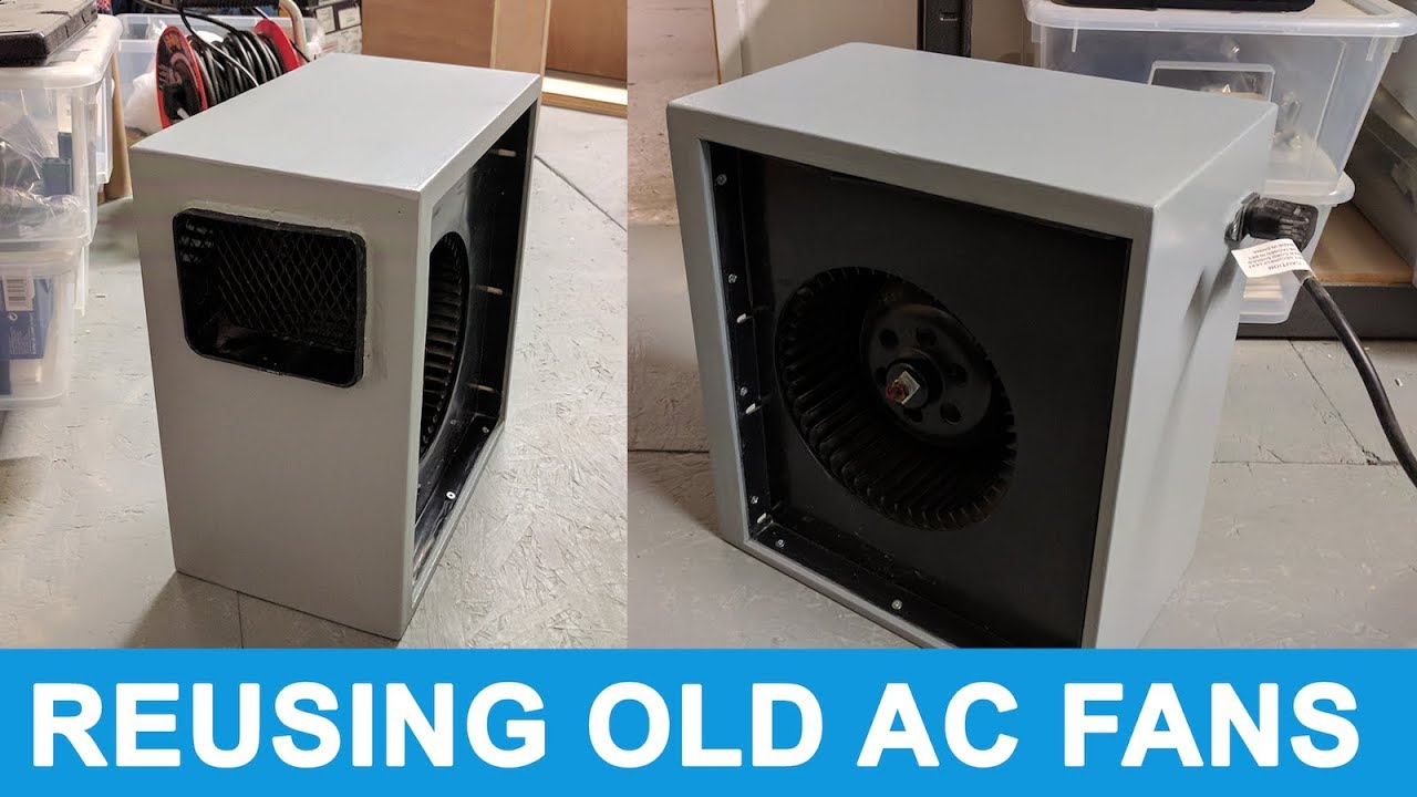 Boxing Up And Reusing An Old Ac Fan Youtube