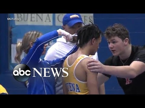 Outrage after high school wrestler forced to cut his hair