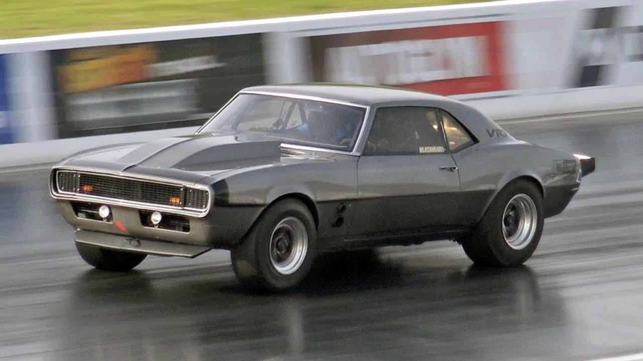 Awd Twin Turbo 68 Chevrolet Camaro At Santa Pod Raceway Youtube