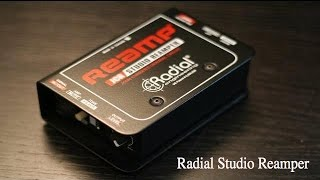 Radial JCR Studio Reamper, unboxing and tutorial.