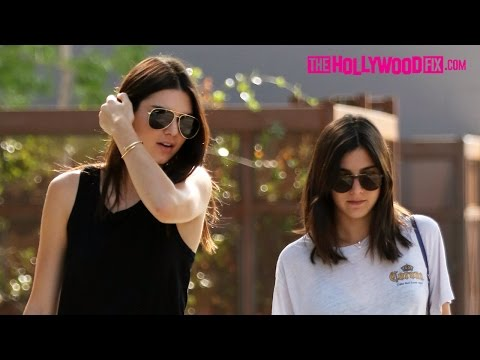 Kendall Jenner & Lauren Perez Go Out For Dinner And Ice Cream 8.21.15  TheHollywoodFix.com