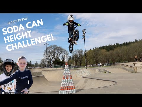 Soda Can Height Jump Challenge!!