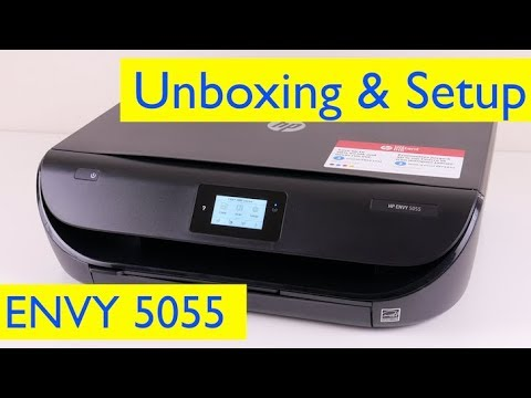 HP ENVY 5055 Unboxing and Wireless Setup - Wireless All-in-One