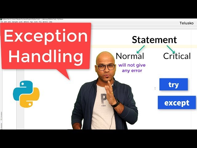 #63 Python Tutorial for Beginners | Exception Handling