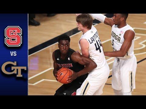NC State vs. Georgia Tech Men's Basketball Highlights (2016-17)