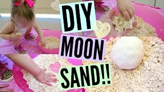 DIY MOON SAND!! Only 2 Ingredients!!