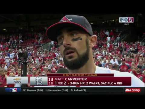 Matt Carpenter on Holliday's moment and fighting to the end