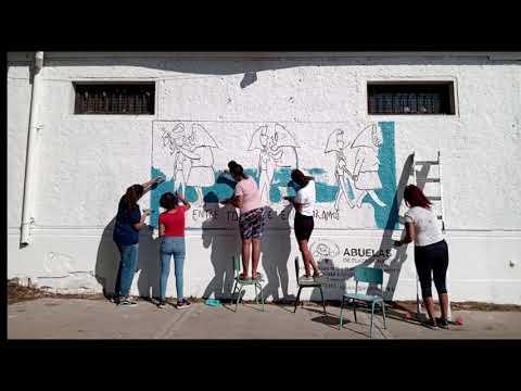 La Biblioteca Popular Monte Chingolo inauguró un mural por la Memoria pintado por jóvenes de la comunidad