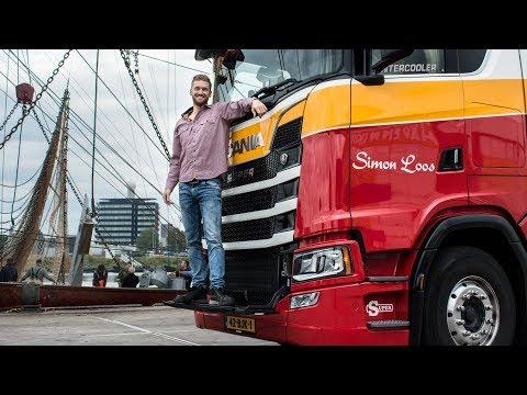 Lossen in de haven van Den Helder, mooi touren met m'n Scania S520!