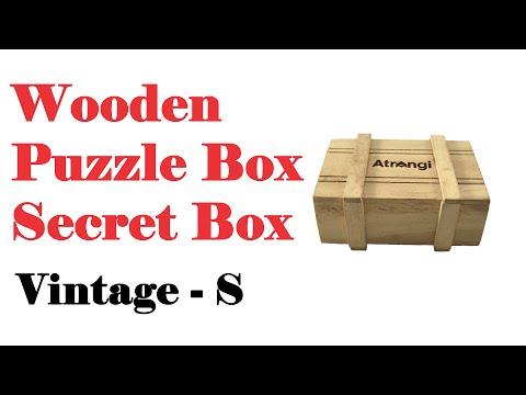 Wooden Puzzle Box : Secret Box : S