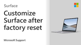 Surface Factory Settings - Microsoft Support: Help!