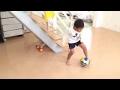 2015/08/13 しょうた(5歳1ヶ月・年中)サッカー ドリブル練習