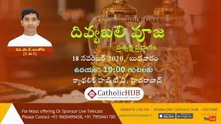 LIVE Telugu Mass | Rev.Fr.Anthony C.M.F | Catholic HUB TV | HYD | TS | 18-11-2020