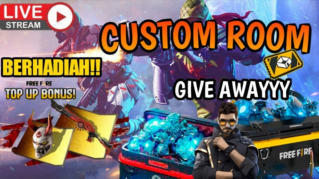 🔴 [LIVE FF] CUSTOM ROOM BERHADIAH DIAMOND + GIVEAWAY 1000 DIAMOND!!!