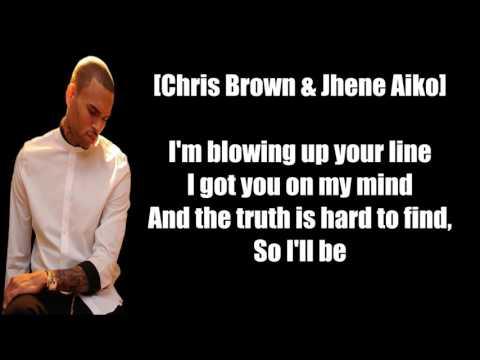 Chris Brown Drunk Texting ft  Jhene Aiko Lyrics
