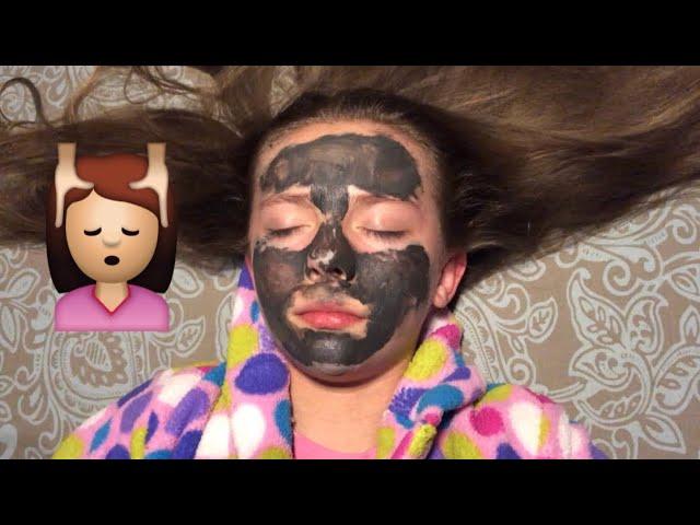 Asmr Face Pampering My Sister Skin Care Hair Brushing Tapping She Fell Asleep