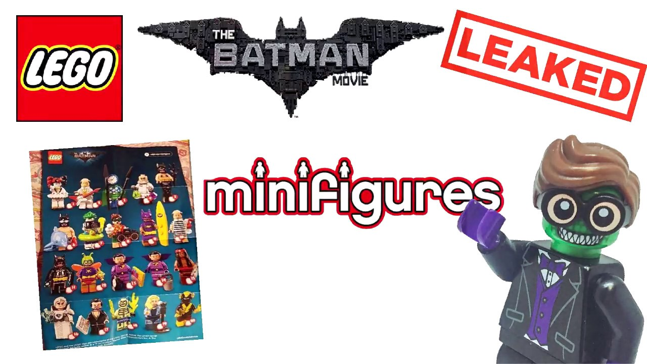 LEAKED Lego Batman Movie Collectible Minifigures Series 2 ...