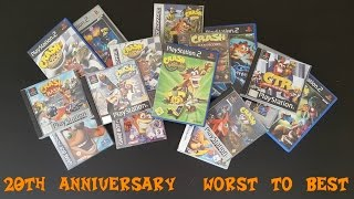 20 WORST to BEST Crash Bandicoot Games (20th Anniversary Special) #CrashBandicoot20th