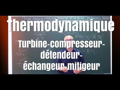 MP/PSI/PC/PT Bilan d'énergie dans les turbines, tuyères, pompes, échangeurs...