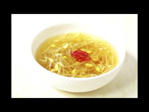 Bean sprouts soup