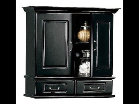bathroom wall cabinet black 17382