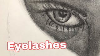 How to draw eyelashes on simple cartridge paper