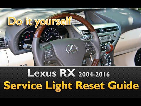 Lexus RX 2004-2016 Service Light Reset Guide - YouTube