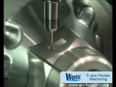 CNC 5 axis pocket milling-machining