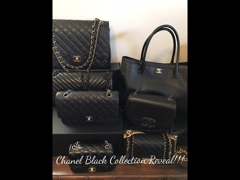 Chanel Black Handbag Collection Reveal!!