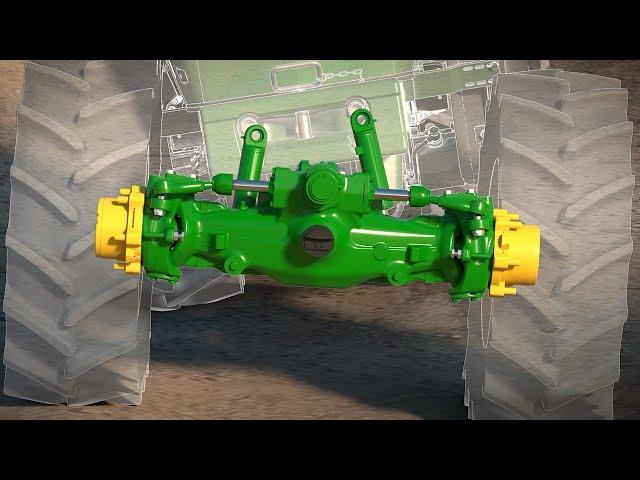 5G Vorderachse - Vierradantrieb mit Federung Animation | John Deere DE