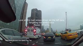 Driving in New York City, NYC - FDR Drive Accident
